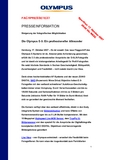 [PDF] Pressemiteilung: Die Olympus E-3: Ein professioneller Allrounder