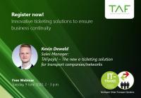 Kevin Dewald, TAF mobile GmbH - Vortrag Ticketing & Mobility Solutions