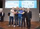 "The DVS state branch in Mecklenburg-Western Pomerania won the trophy for the state branches in the National DVS ""Young Welders"" Competition. Dipl.-Ing. Peter Boye (DVS Vice-President, far right) congratulated the winners / Photo: DVS / Alexander Sucrow Fotografie"