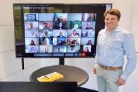 ChemCologne-Geschäftsführer Daniel Wauben während des Online Kennenlerntreffen