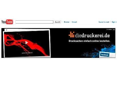diedruckerei.de advertises with a TV spot on YouTube