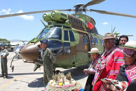 AS332 Delivery Ceremony, Bolivia