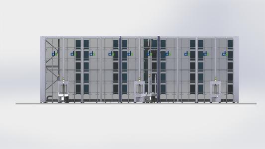 Das Smart-In-Production-Warehouse bietet mit seinem modularen Aufbau höchste Flexibilität und Materialverfügbarkeit in Liniennähe. Offene Schnittstellen ermöglichen die Integration in verschiedenste Systemumgebungen / Bildquelle: cts