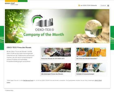 """Alle """"OEKO-TEX® Firmen des Monats"""" erhalten eine entsprechende Urkunde sowie kostenlose Werbematerialien, mit denen sie Kunden, Geschäftspartner und den Endverbraucher auf ihre Auswahl als umweltfreundliche und sozial verantwortliche Unternehmen informieren können"""