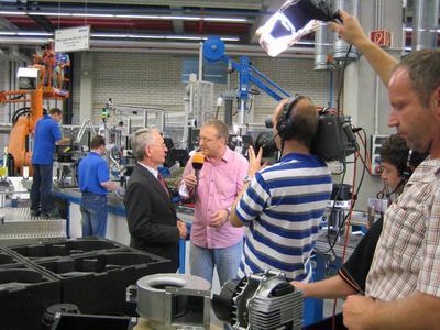 ebm-papst-Firmengründer Gerhard Sturm im Interview mit ZDF-Moderator Frank Bethmann