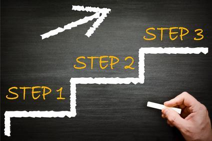 Drei Schritte in ein erfolgreiches Leben / © Marco2811/Fotolia