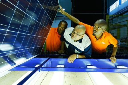 Prüfung Solarmodule Südafrika