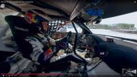 Teameigner Mattias Ekström aus der Perspektive des Copiloten