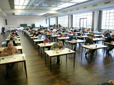 Zentralprüfung zum CFP auf dem Campus der J W G Uni Frankfurt