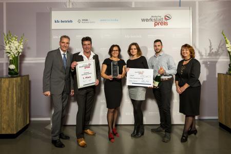 Den ersten Platz des Deutschen Werkstattpreises 2017 belegte das Team des Autohauses Schmid in Tengen / Foto: Stefan Bausewein