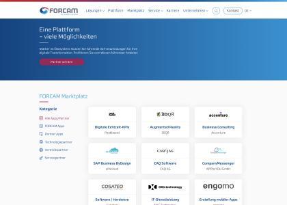 Neuer Industrie 4.0 Marktplatz von FORCAM