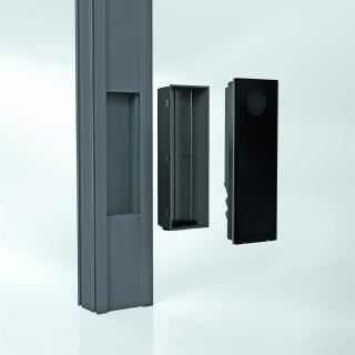 Die rechteckige Fräsung und die separate Einbaudose ermöglichen eine einfache und schnelle Montage
