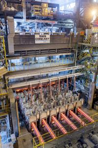 Upgraded SMS Concast bloom caster at Hyundai Pohang, in full production