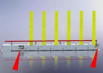 Die selbsteinstellenden Klein-Stoßdämpfer von ACE kompakt in den Endlagen der erfolgreichen Typenserie MH von Dorninger Hytronics integriert, (Foto: ACE und Dorninger Hytronics GmbH)