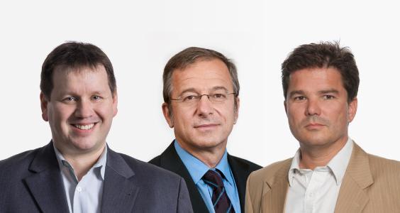 Collage Lieber Leopold Berndorfer: fltr: Peter Lieber, Helmut Leopold, Thomas Berndorfer