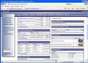 Beispiel einer Portalseite im Intranet 2.0