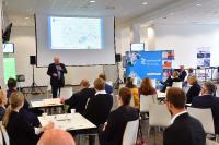 Dr.-Ing. Jenz Otto, Hauptgeschäftsführer des vti, eröffnet den Einkäufertag für Schutzausrüstung 2020.