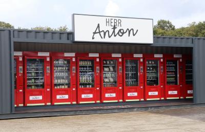 """Das Hensing Automatensystem """"Herr Anton"""" bietet Platz für bis zu zwölf Verkaufsautomaten"""