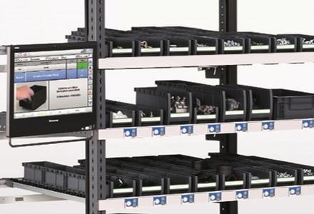 ELAM-Werkerführung in Verbindung mit einem Pick to Light-System wie bei ELAM Light