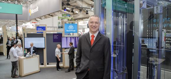 CEO Andreas Schierenbeck @ Hannover Messe (c) thyssenkrupp