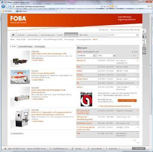 FOBA Webseite MESSEKALENDER