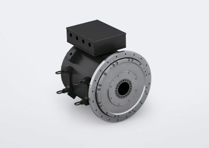 Figure 1: The new high-torque motor of the DST2 series with a shaft height of 560 mm is now the largest motor that the Nuremberg-based manufacturer Baumüller offers