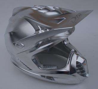 Eye-catching part: motor cycle helmet at the OPEN MIND booth , Image source: OPEN MIND