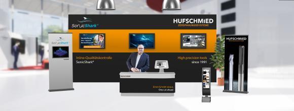Vorgeschmack auf den virtuellen Messestand von Hufschmied auf der DiMaP 2.0 – Digital Machining Market Place / Bildquelle: Hufschmied Zerspanungssysteme
