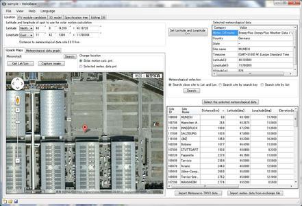 HelioBase - Standortauswahl für die Simulation