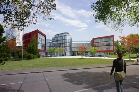 Simulation Erweiterung Hauptsitz SCANLAB in Puchheim bei München