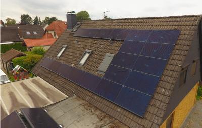 03 Fertig installierte Photovoltaik ©Powertrust / Herausgeber: Powertrust GmbH aus Bremen