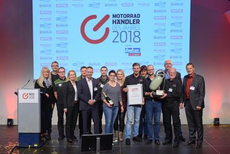 Witten und Weber ist Motorradhändler des Jahres 2018 / Foto: Johannes Untch/Vogel Communications Group