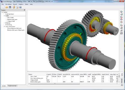 GWJ system calculation with 3D elastic gear bodies