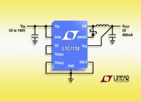140V, 400mA Step-Down Converter with Only 12µA Quiescent Current