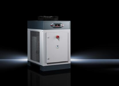 "Rittal has significantly improved the cooling technology of its chillers for machine and enclosure cooling with its new ""Blue e"" chillers in the 11 to 25 kW output class range"
