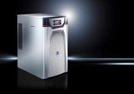 In order to achieve temperature precision while also meeting the demands for high energy efficiency, Rittal is launching the new Blue e+ series – a chiller generation that enables a huge leap in energy efficiency (Photo: Rittal GmbH & Co. KG)
