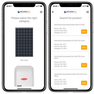The spare PV parts app for installers