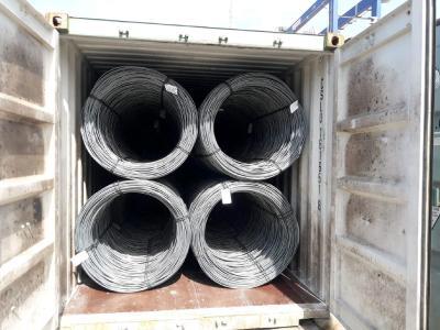 Speziell für den Transport per Container produzierte Coils
