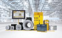 Umfassendes Produktportfolio von Baumüller mit Umrichtern und Motoren, Steuerungstechnik und Softwarebaukasten