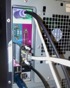 CatX Mini angesteckt auf einen PC VGA Ausgang