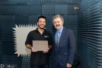 Didier Goulet-Tran, Gewinner der Feko Student Competition 2018, mit seinem Professor Jean-Jacques Laurin an der Polytechnique Montreal, Kanada