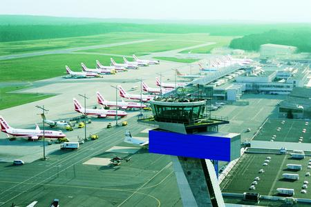 Vorfeldbetrieb am Flughafen Nürnberg