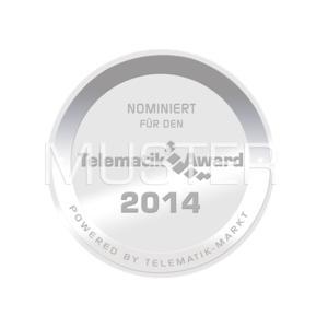 Die für den Telematik Award 2014 nominierten Lösungen dürfen fortan dieses Siegel tragen. Bild. Telematik-Markt.de