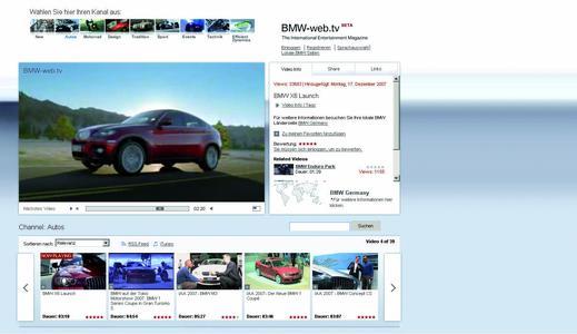 BMW Web 2.0 Videoportal www.bmw-web.tv