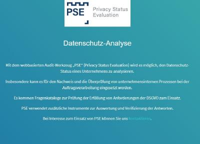 Data protection analysis: Privacy Status Evaluation