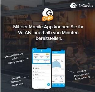 Mit der Mobile App können Sie ihr WLAN innerhalb von Minuten bereitstellen.