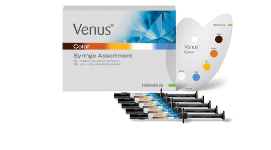 Heraeus gibt Zahnärzten und -technikern neue Materialien an die Hand, um täglich hochwertige Ergebnisse zu erzielen, zum Beispiel Venus Color für die Charakterisierung direkter Restaurationen