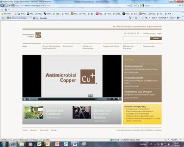 Informationen zu antimikrobiellen Kupferwerkstoffen bietet die Website www.antimicrobialcopper.com nun auch in einer deutschsprachigen Version