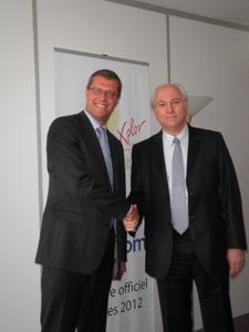 Frank Tiedt, CSO I.R.I.S. AG und Didier Romeu, Vertriebsleiter ECM bei Cincom.