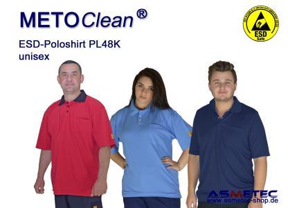 METOCLEAN ESD Poloshirts PL48K